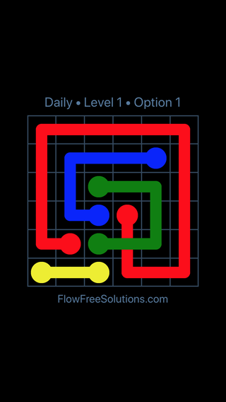 Solution and Answer to the Puzzle for Bridges Date Tuesday, February 12, 2019 Level 1