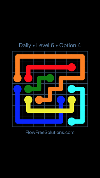 Solution and Answer to the Puzzle for Bridges Date Tuesday, February 12, 2019 Level 6