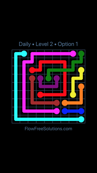 Solution and Answer to the Puzzle for Bridges Date Wednesday, February 13, 2019 Level 2