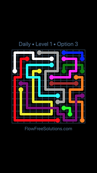 Solution and Answer to the Puzzle for Bridges Date Sunday, January 14, 2018 Level 1