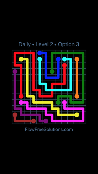 Solution and Answer to the Puzzle for Bridges Date Sunday, January 14, 2018 Level 2