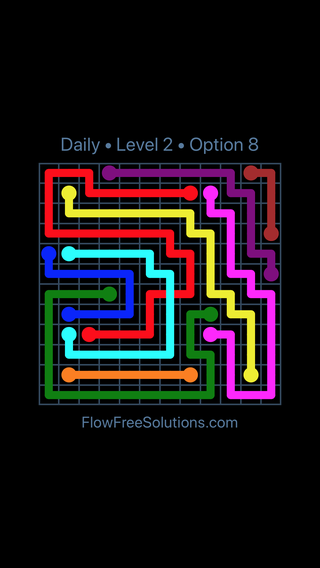 Solution and Answer to the Puzzle for Bridges Date Sunday, March 10, 2019 Level 2