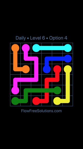 Solution and Answer to the Puzzle for Bridges Date Sunday, June 10, 2018 Level 6