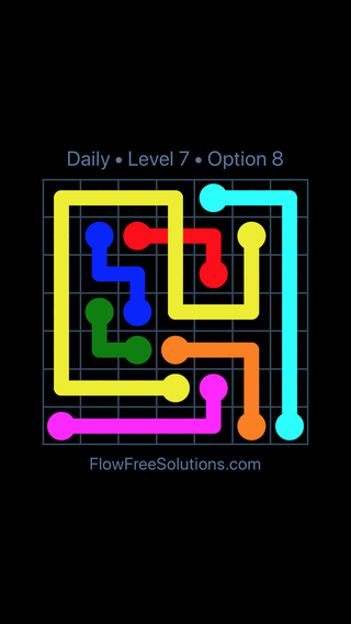 Solution and Answer to the Puzzle for Bridges Date Sunday, June 10, 2018 Level 7