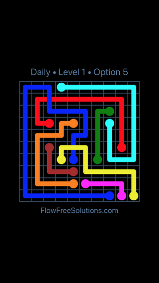 Solution and Answer to the Puzzle for Bridges Date Tuesday, June 12, 2018 Level 1