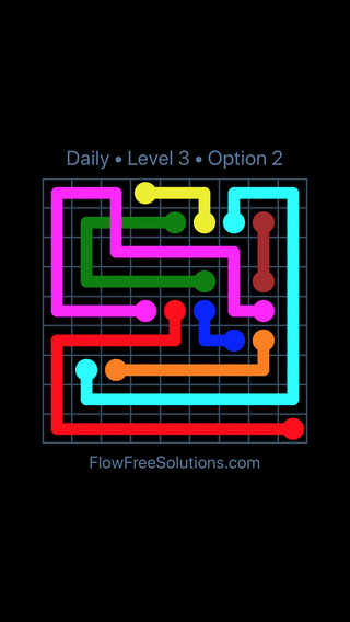 Solution and Answer to the Puzzle for Bridges Date Tuesday, June 12, 2018 Level 3