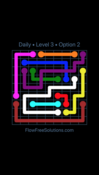 Solution and Answer to the Puzzle for Bridges Date Wednesday, June 13, 2018 Level 3