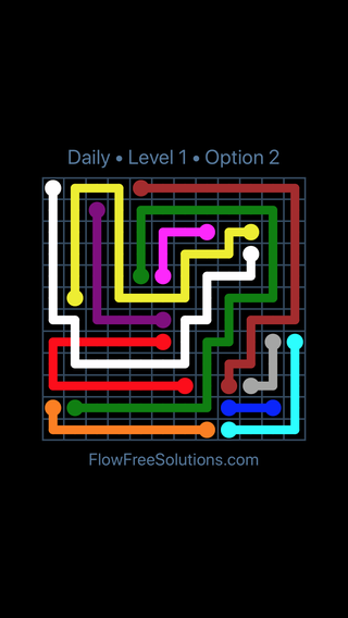 Solution and Answer to the Puzzle for Bridges Date Sunday, August 11, 2019 Level 1
