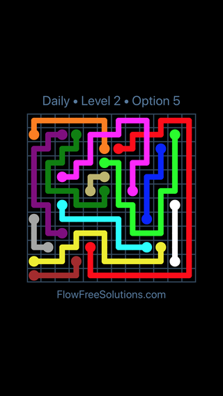 Solution and Answer to the Puzzle for Bridges Date Sunday, December 2, 2018 Level 2