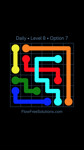 Solution and Answer to the Puzzle for Bridges Date Tuesday, August 13, 2019 Level 8