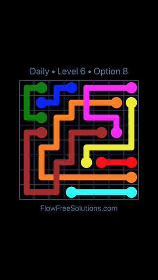 Solution and Answer to the Puzzle for Bridges Date Thursday, September 13, 2018 Level 6