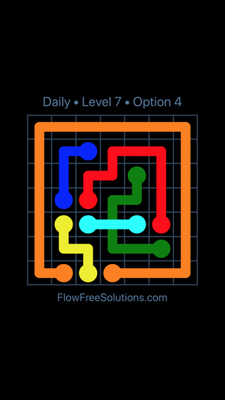 Solution and Answer to the Puzzle for Bridges Date Saturday, September 15, 2018 Level 7
