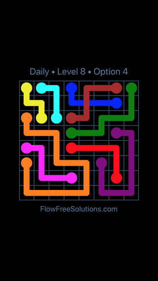 Solution and Answer to the Puzzle for Bridges Date Saturday, December 8, 2018 Level 8