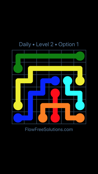 Solution and Answer to the Puzzle for Bridges Date Tuesday, March 12, 2019 Level 2