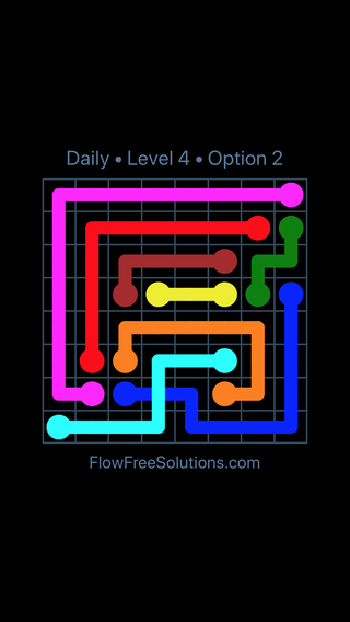 Solution and Answer to the Puzzle for Bridges Date Tuesday, April 6, 2021 Level 4