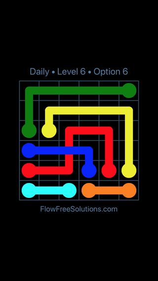 Solution and Answer to the Puzzle for Bridges Date Tuesday, March 12, 2019 Level 6
