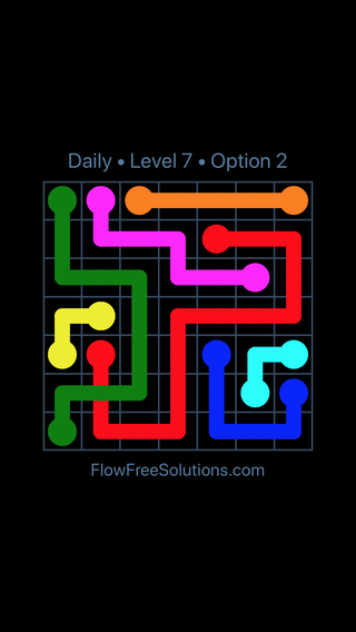 Solution and Answer to the Puzzle for Bridges Date Tuesday, March 12, 2019 Level 7