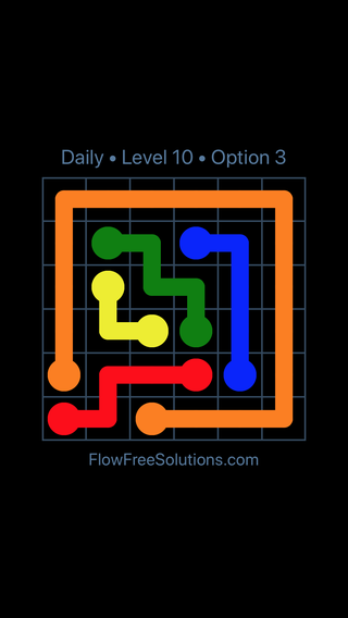 Solution and Answer to the Puzzle for Flow Date Monday, January 8, 2018 Level 10