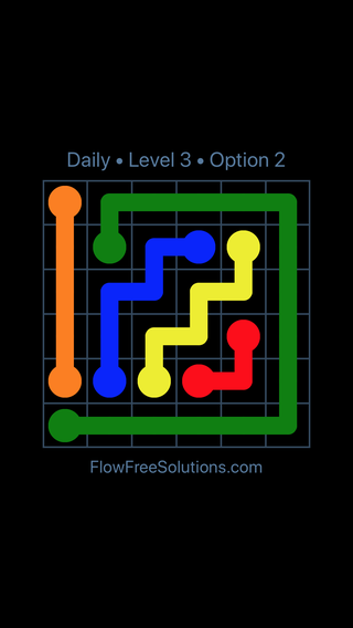 Solution and Answer to the Puzzle for Flow Date Monday, January 8, 2018 Level 3
