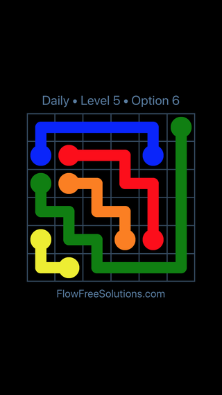 Solution and Answer to the Puzzle for Flow Date Monday, January 8, 2018 Level 5
