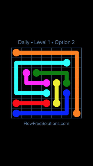 Solution and Answer to the Puzzle for Flow Date Wednesday, March 13, 2019 Level 1
