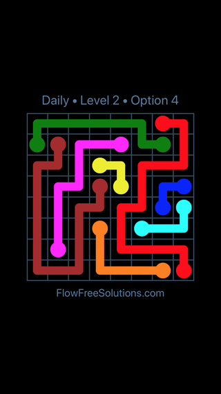 Solution and Answer to the Puzzle for Flow Date Wednesday, April 11, 2018 Level 2
