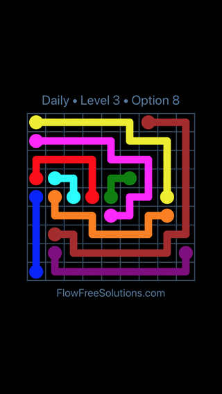 Solution and Answer to the Puzzle for Flow Date Wednesday, March 13, 2019 Level 3