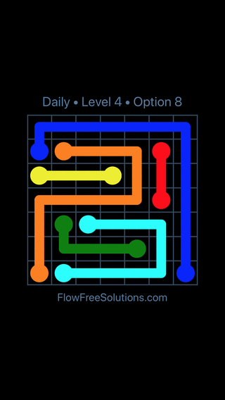 Solution and Answer to the Puzzle for Flow Date Wednesday, April 7, 2021 Level 4