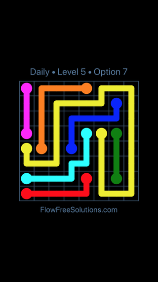 Solution and Answer to the Puzzle for Flow Date Wednesday, April 7, 2021 Level 5