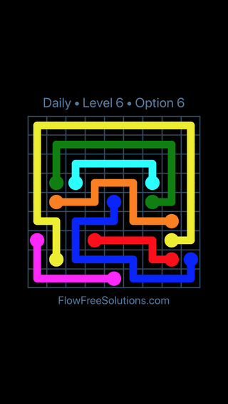 Solution and Answer to the Puzzle for Flow Date Wednesday, April 11, 2018 Level 6
