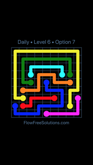 Solution and Answer to the Puzzle for Flow Date Wednesday, March 13, 2019 Level 6