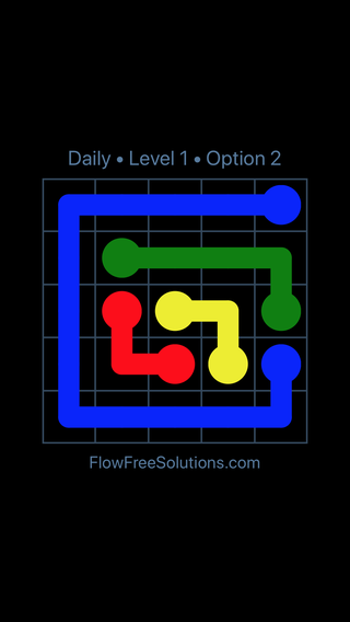 Solution and Answer to the Puzzle for Flow Date Thursday, April 12, 2018 Level 1