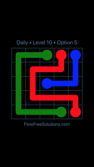 Solution and Answer to the Puzzle for Flow Date Thursday, April 12, 2018 Level 10