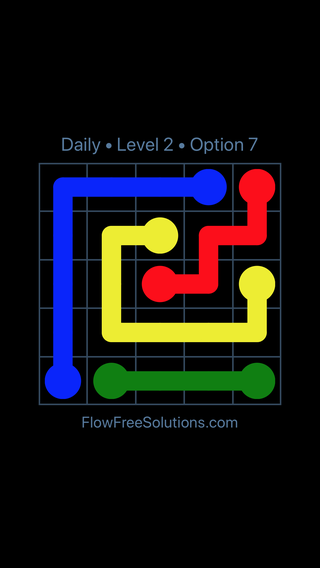 Solution and Answer to the Puzzle for Flow Date Thursday, March 14, 2019 Level 2