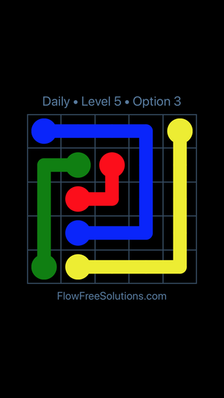 Solution and Answer to the Puzzle for Flow Date Thursday, March 14, 2019 Level 5