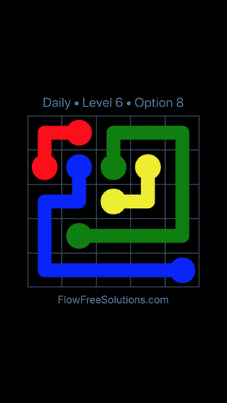 Solution and Answer to the Puzzle for Flow Date Thursday, March 14, 2019 Level 6