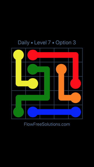 Solution and Answer to the Puzzle for Flow Date Thursday, April 12, 2018 Level 7
