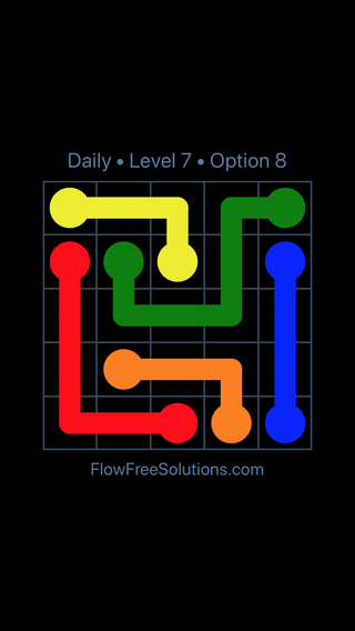 Solution and Answer to the Puzzle for Flow Date Thursday, March 14, 2019 Level 7