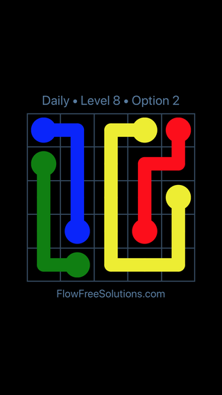 Solution and Answer to the Puzzle for Flow Date Thursday, April 12, 2018 Level 8