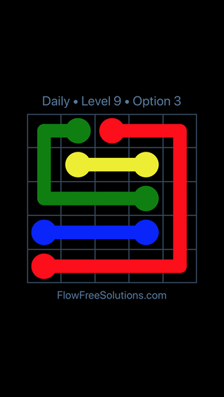Solution and Answer to the Puzzle for Flow Date Thursday, March 14, 2019 Level 9