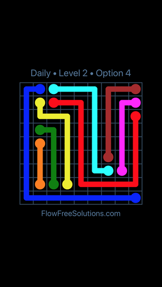 Solution and Answer to the Puzzle for Flow Date Friday, April 13, 2018 Level 2