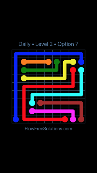 Solution and Answer to the Puzzle for Flow Date Friday, March 15, 2019 Level 2