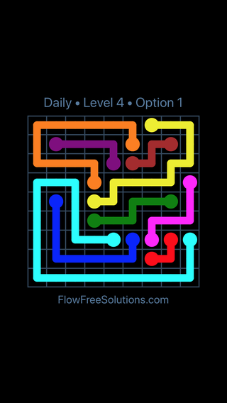 Solution and Answer to the Puzzle for Flow Date Friday, March 15, 2019 Level 4