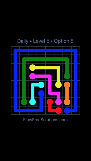 Solution and Answer to the Puzzle for Flow Date Friday, April 9, 2021 Level 5