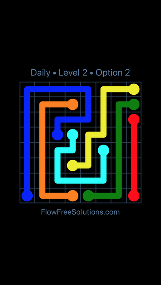 Solution and Answer to the Puzzle for Flow Date Saturday, February 15, 2020 Level 2