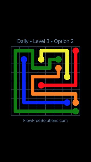 Solution and Answer to the Puzzle for Flow Date Saturday, April 14, 2018 Level 3