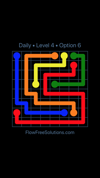 Solution and Answer to the Puzzle for Flow Date Saturday, July 7, 2018 Level 4