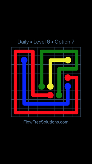 Solution and Answer to the Puzzle for Flow Date Saturday, March 16, 2019 Level 6