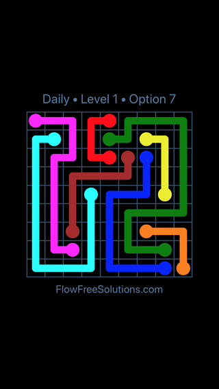 Solution and Answer to the Puzzle for Flow Date Sunday, April 15, 2018 Level 1