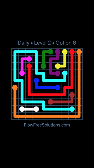 Solution and Answer to the Puzzle for Flow Date Sunday, April 15, 2018 Level 2